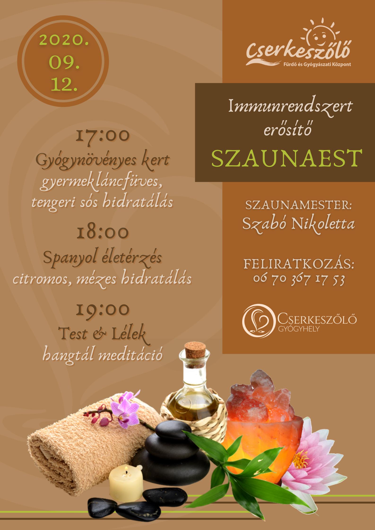 Immunrendszert erősítő SZAUNAEST
