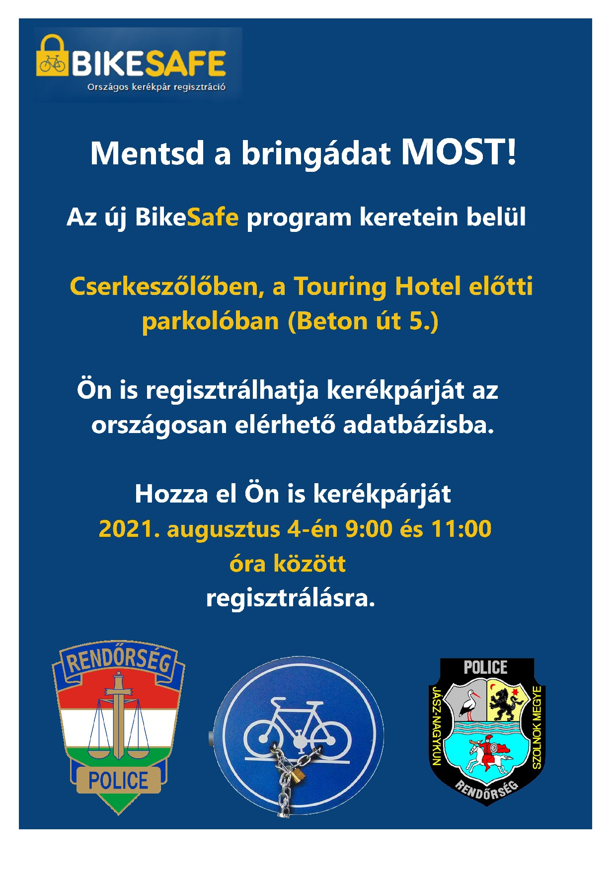 BikeSafe (aug.4. 9:00-11:00)