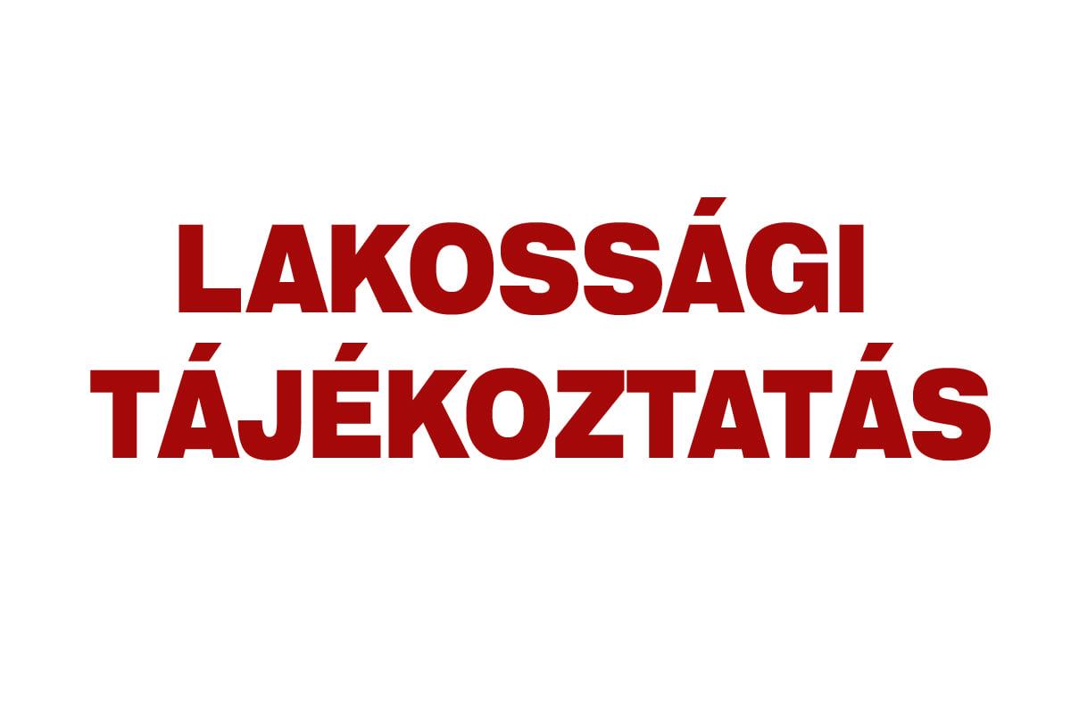 LAKOSSÁGI TÁJÉKOZTATÁS